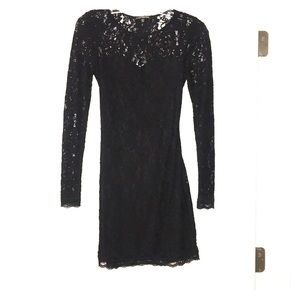Black Lace Sweetheart Dress